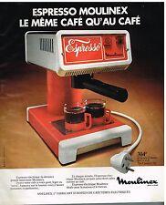 """Publicité Advertising 1976 La Cafetière Electrique """"Espresso"""" Moulinex"""