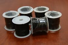 5 ROLLS - 50 METERS BLACK LEATHER BEADING CORD STRING 1MM #F-46G