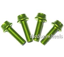 A2Z 7075 T6 Alloy Water Bottle Cage Carrier Bolts x 4 Green MTB Bicycle Bike