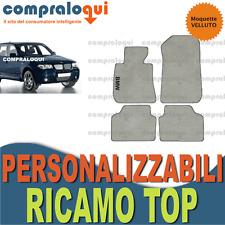 per BMW X3 E83 TAPPETINI AUTO SU MISURA VELLUTO BEIGE e FONDO GOMMA + RICAMO TOP