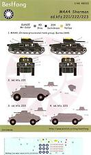 Best Fong Decals 1/48 M4A4 SHERMAN TANK & Sd.Kfz 221 HALF TRACKS Chinese Army