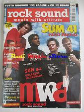 rivista ROCK SOUND 56/2002 + CD Sum 41 + POSTER Ash Ska-P Feeder N.E.R.D. Nous