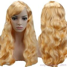 Women's Halloween Full Wig Cosplay Long Wigs Wavy Straight Party Performance vbd