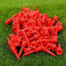 Plastic 41mm Step Down Golf Tees Graduated Castle Tee Outdoor Training Aid 100PC