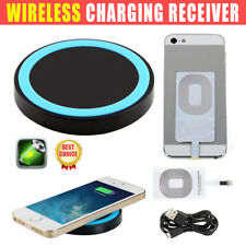 Qi Wireless Fast Charger Charging Pad With Receiver for Iphone 6 6 plus 5 5S AU