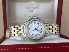 Cartier Cougar Watch STAINLESS 18K Yellow Gold Cartier Watch Cartier Diamond