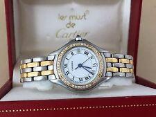 Cartier Cougar Watch STAINLESS 18K Yellow Gold Cartier Watch Cartier Diamond
