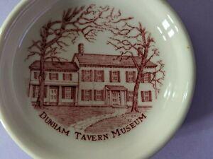 Vintage Souvenir Mini Plate    Dunham Tavern Museum  Cleveland OHIO