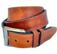 Allen Edmonds Brown Calfskin Leather Belt Sz 38 MADE IN USA