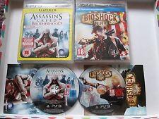 2 x Playstation 3 / PS3 Games - Assassins Creed Brotherhood & Bioshock Infinite