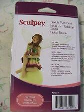 "FAIRY~ELF~GIRL DOLL MOLD~Sculpey Flexible Push Mold~Clay~Soap~Wax approx 5"" tall"