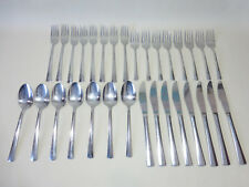 31 Piece Splendide Esprit 18/8 Center Ridge Stainless Flatware - Cutlery