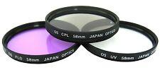 Dcpl Filter kit HD for Canon Eos Digital Rebel T6 T5i SL1 T5 t3i t4i xti XSi 58