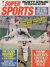 1972 (Sep.) Super Sports Baseball magazine, Manny Sanguillen, Hank Aaron ~ VG