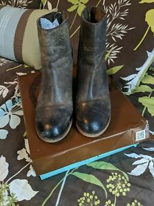 DIBA True Wedge Ankle Boots Size 9.5