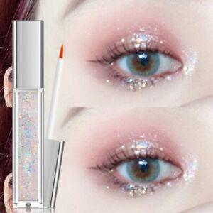 10 Color Diamond Eye Shadow Nude Metal Shimmer Glow Glitter Single Liquid