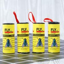 1 Pack of 4 Rolls Insect Fly Glue Paper Catcher Ribbon Tape Strip Sticky  Pop UK