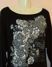 PILOT LADIES LONG SLEEVE BLOUSE WITH SEQUIN DETAIL   UK SIZE 12