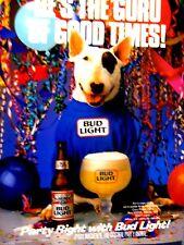 "Spuds MacKenzie Guru Of Good Times 1987 Bud Light Original Print Ad 8.5 x 11"""