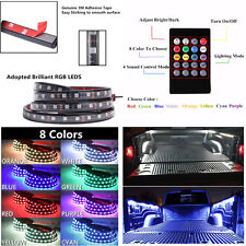 2 x Car Truck 60'' RGB LED Bed Light Atmosphere Light Strip Remote Music Control