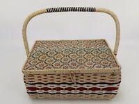 Vintage Wicker and Wood Sewing Basket