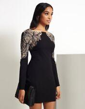 Lipsy Dress Black Nude Size 8 Bodycon