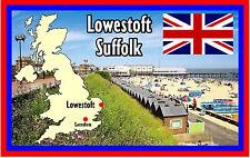 LOWESTOFT, SUFFOLK, UK - SOUVENIR NOVELTY FRIDGE MAGNET - FLAGS / SIGHTS - GIFTS