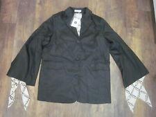 MIK Made in Korea Black Blazer/Jacket w Flowing Scarf Style Liner - Unique LOOK