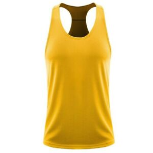 Mens Loose Sleeveless Quick-Dry Round Neck Vest Breathable Bottoming Sports Tops