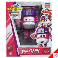 Super Wings New Season3 DIZZY Rescue Team ARI Transformer Robot Figure Toy - 5""