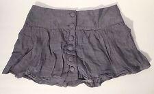 Decree Women's Gray Distressed Big Light Weight Button Front Skirt Size 7