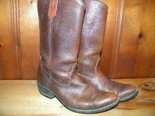 1980's Brown Leather Western Style Boots Unknown Brand Men's Size 9 1/2 D used