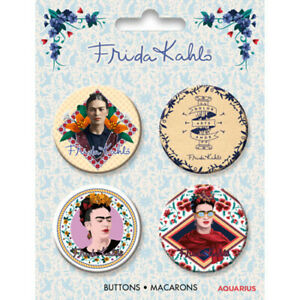 Frida Kahlo Pack of 4 Pin Badges (nm)