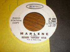 Richard Popcorn Wylie 45 Marlene EPIC PROMO