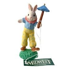 Midwest Of Cannon Falls Cottontail Lane Carnival Bunny Clown Figurine Vintage