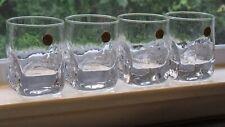 Durobor Belgium Crystal Old Fashioned Rocks Tumbler Glasses - Set of 4