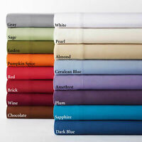 600 TC Extra Deep Pocket UK Super King Size Fitted/Bottom Sheet Select Colors""