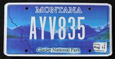 "MONTANA ""  GLACIER NATIONAL PARK - LAKE - AYV 835 "" MT SPECIALTY License Plate"