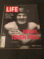 LIFE MAGAZINE OCTOBER 6, 1972 ROUGH, TOUGH PROS GOOD CONDITION