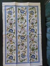 Linen Towel: FLOWERS