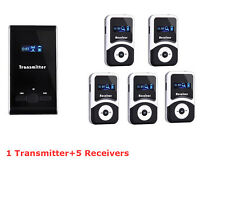 New Pro Wireless tour guide system,translation meeting visit church &5 receivers