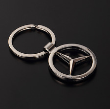 3D Hollow Out Car Logo Metal Key Chains Pendant Holder Silver Keyring for Benz