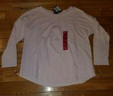 NEW Womens PREMISE Pink Heather L/S Stretchy Top Size 2XL XXL $58