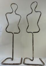 2 Rare Mcm French Figural Mid-Century Clothing Displays or Mannequins Cast Iron