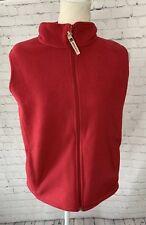 Woolrich Women's Full Zip Fleece Jacket Vest Raspberry Pink Size Medium