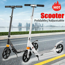 Adult Folding Kick Scooter & Dual Suspension Hight-Adjustable Urban Big Wheels