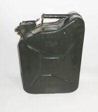 Alter 10 Liter vintage Benzinkanister Reservekanister Oldtimer dunkelgrün