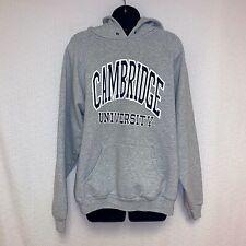 Cambridge University Women's Size XL Heather Gray Hooded Sweatshirt