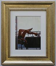 Il Temptress da Jack Vettriano incorniciato & MOUNT ART PRINT PICTURE GOLD