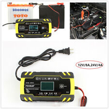12V/24V Automotive Smart Battery Charger/Maintainer for Car Truck  Motorcycle
